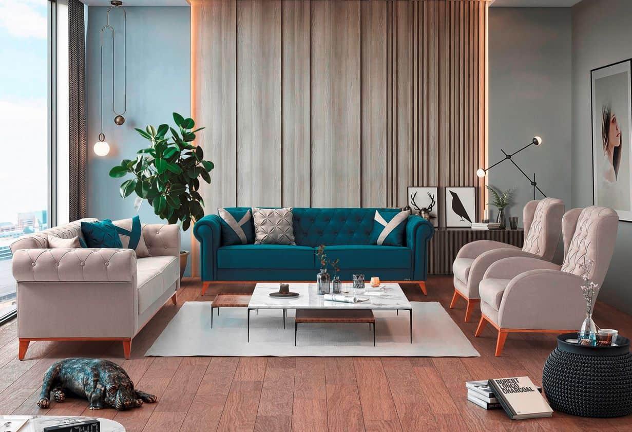 Καναπές Κρεβάτι 3θεσιος Hermes 1